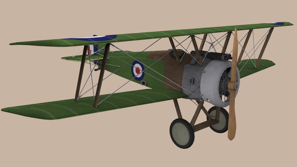 Sopwith Camel – 3d Model